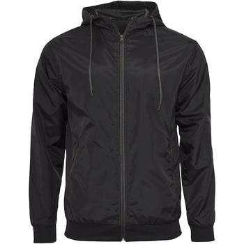 Textil Homem Casacos de couro/imitação couro Build Your Brand Wind Runner Preto/preto