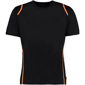 Textil Homem T-Shirt mangas curtas Gamegear Cooltex Laranja Preta/Fluorescente