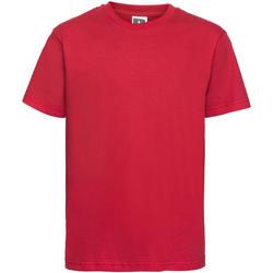 Textil Criança T-Shirt mangas curtas Russell 155B Vermelho clássico