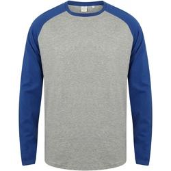 Textil Homem T-shirt mangas compridas Skinni Fit SF271 Heather Grey / Royal