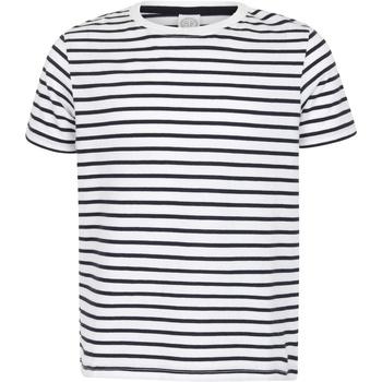 Textil Criança T-Shirt mangas curtas Skinni Fit SM202 Marinha Branca/Oxford