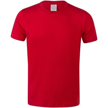 Textil Criança T-Shirt mangas curtas Skinni Fit SM121 Vermelho Brilhante