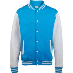 Textil Criança Jaquetas Awdis JH43J Sapphire Blue / Heather Grey