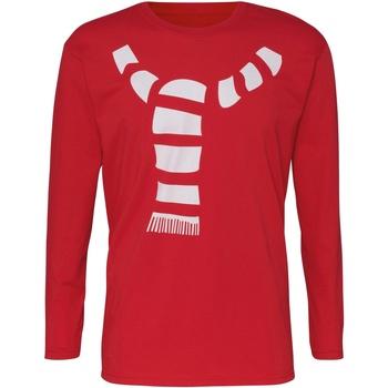 Textil Homem T-shirt mangas compridas Christmas Shop CJ205 Vermelho