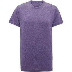 Textil Homem T-Shirt mangas curtas Tridri TR010 Melange púrpura