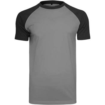 Textil Homem T-Shirt mangas curtas Build Your Brand BY007 Carvão Vegetal/Preto