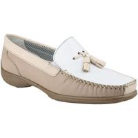 Sapatos Mulher Mocassins Cotswold BIDDLESTONE Branco/Béige/Tan