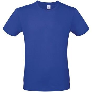 Textil Homem T-Shirt mangas curtas B And C TU01T Cobalto Azul