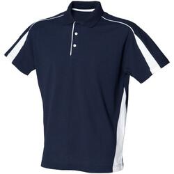 Textil Homem Polos mangas curta Finden & Hales LV390 Marinha/ Branco