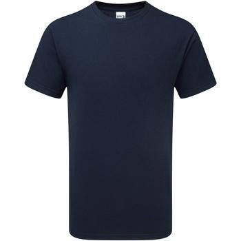 Textil Homem T-Shirt mangas curtas Gildan H000 Esporte Marinha Negra