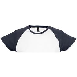 Textil Mulher T-Shirt mangas curtas Sols Milky Branco/Navio