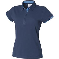 Textil Mulher Polos mangas curta Front Row FR201 Marinha/Marinha