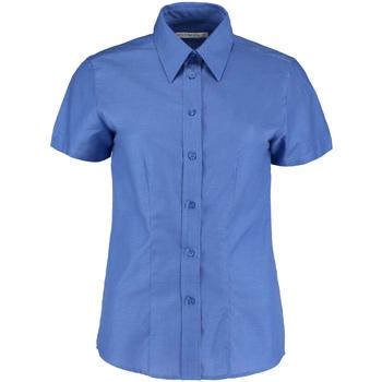 Textil Mulher camisas Kustom Kit KK360 Azul Italiano