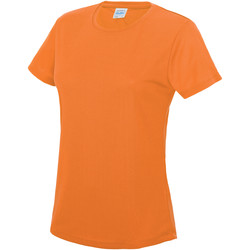 Textil Mulher T-Shirt mangas curtas Awdis JC005 Laranja elétrica