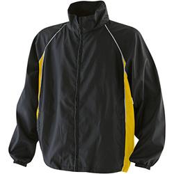 Textil Homem Corta vento Finden & Hales LV610 Preto/amarelo/branco