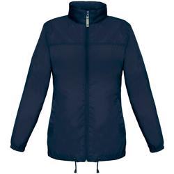 Textil Mulher Corta vento B And C JW902 Azul-marinho