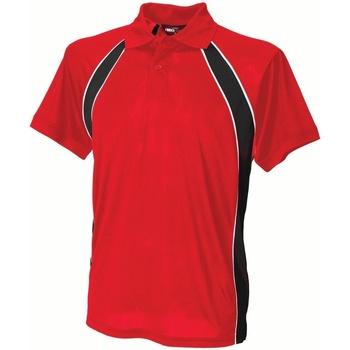 Textil Homem Polos mangas curta Finden & Hales LV350 Vermelho/preto/branco