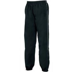 Textil Homem Calças de treino Tombo Teamsport TL049 Tubulação preto/branco