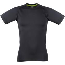 Textil Homem T-Shirt mangas curtas Tombo Teamsport TL515 Preto / Negro