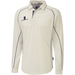 Textil Homem Polos mangas compridas Surridge  Branco/Navy trim