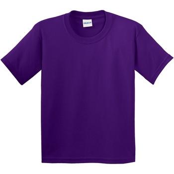 Textil Criança T-Shirt mangas curtas Gildan 64000B Púrpura