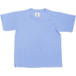 Textil Criança T-Shirt mangas curtas B And C TK300 Denim