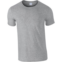 Textil Homem T-Shirt mangas curtas Gildan Soft-Style Sport Grey (RS)