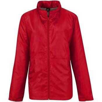 Textil Mulher Corta vento B And C B656F Vermelho/Cinza quente