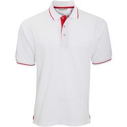 Textil Homem Polos mangas curta Kustom Kit KK606 Branco/Brilhante Vermelho