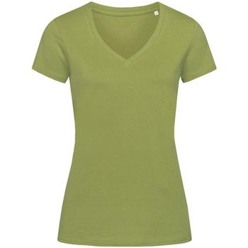 Textil Mulher T-Shirt mangas curtas Stedman Stars Janet Verde Terra