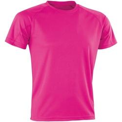 Textil T-Shirt mangas curtas Spiro Aircool Flo Pink