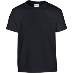 Textil Criança T-Shirt mangas curtas Gildan 5000B Preto