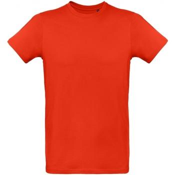 Textil Homem T-Shirt mangas curtas B And C TM048 Vermelho Fogo