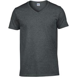 Textil Homem T-Shirt mangas curtas Gildan 64V00 Heather Negra