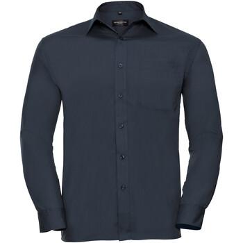 Textil Homem Camisas mangas comprida Russell 934M marinha francesa