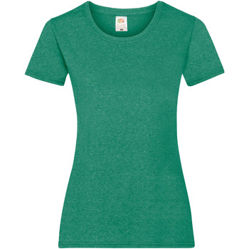 Textil Mulher T-Shirt mangas curtas Fruit Of The Loom 61372 Retro Heather Green
