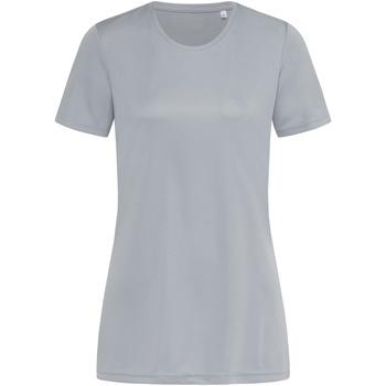 Textil Mulher T-Shirt mangas curtas Stedman  Cinza Prata