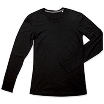 Textil Homem T-shirt mangas compridas Stedman Stars  Opala Negra