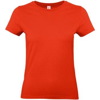 Textil Mulher T-Shirt mangas curtas B And C E190 Vermelho Fogo