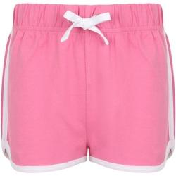 Textil Criança Shorts / Bermudas Skinni Fit SM69 Cor-de-rosa/branco brilhante