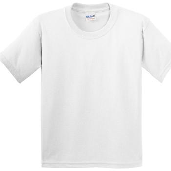 Textil Criança T-Shirt mangas curtas Gildan 5000B Branco