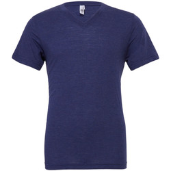 Textil Homem T-Shirt mangas curtas Bella + Canvas CA3415 Navy Triblend