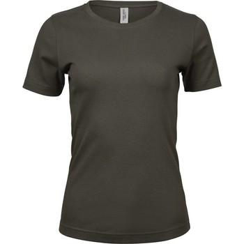 Textil Mulher T-Shirt mangas curtas Tee Jays Interlock Azeitona escura