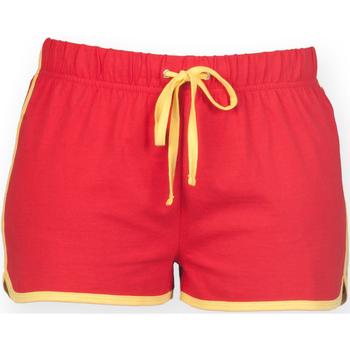 Textil Mulher Shorts / Bermudas Skinni Fit SK069 Vermelho/ Amarelo