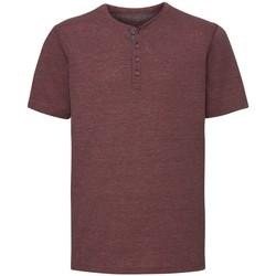 Textil Homem T-Shirt mangas curtas Russell Henley Maroon Marl