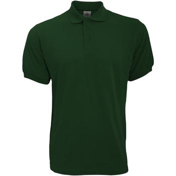 Textil Homem Polos mangas curta B And C PU409 Garrafa Verde