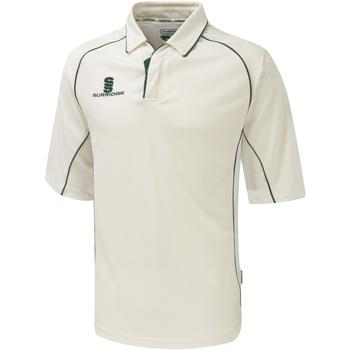 Textil Rapaz Polos mangas curta Surridge SU01B Guarnição branca/verde