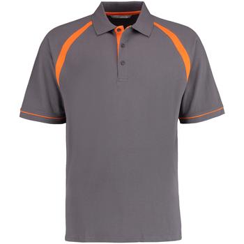 Textil Homem Polos mangas curta Kustom Kit KK615 Carvão Vegetal/Orange