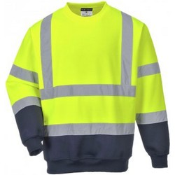 Textil Homem Sweats Portwest PW668 Amarelo/Navio