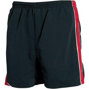 Textil Homem Shorts / Bermudas Tombo Teamsport TL081 Tubulação preta/vermelha/ branca